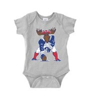 Woods & Sea Minute Moose Onesie 12 Mos Sports Grey