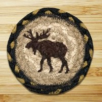 Capitol Earth Rugs Moose Coaster 5""