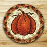 Capitol Earth Rugs Harvest Pumpkin Coaster 5""