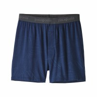 Patagonia Men's Essential Boxers Small Rain Fern: Stone Blue