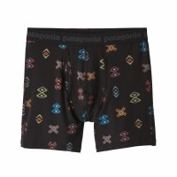 "Patagonia Men's Essential Boxers Briefs - 6"" Small Space Spirits: Ink Black"