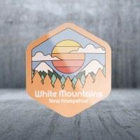 Sticker Pack Retro Mountains - Pastel Gradient Sun Decal Large