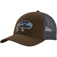 Patagonia Fitz Roy Bison LoPro Trucker Hat OS  Bristle Brown