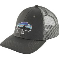 Patagonia Fitz Roy Bison LoPro Trucker Hat OS  Forge Grey W/ Feather Grey