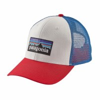 Patagonia P-6 Trucker Cap One Size White w/Fire/Andes Blue