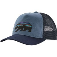 Patagonia W's Fitz Roy Bear Layback Trucker Hat OS Woolly Blue