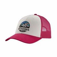 Patagonia Fitz Roy Scope LoPro Trucker Hat OS White W/ Craft Pink