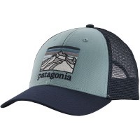 Patagonia Line Logo Ridge LoPro Trucker Hat OS Big Sky Blue