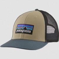Patagonia P-6 Logo LoPro Trucker Hat OS El Cap Khaki w/ Plume Grey