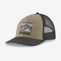 Patagonia Line Logo Ridge LoPro Trucker Hat  El Cap Khaki