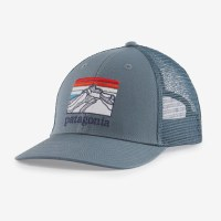 Patagonia Line Logo Ridge LoPro Trucker Hat  Plume Grey