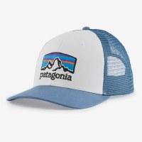 Patagonia Line Logo Ridge LoPro Trucker Hat  White & Pidgeon Blue