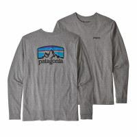 Patagonia Men's Long-Sleeved Fitz Roy Horizons Responsibili-Tee Large Gravel Heather
