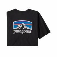Patagonia Men's Fitz Roy Horizons Resposibili-Tee X-Large Black