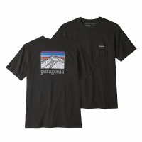 Patagonia Men's Line Logo Ridge Pocket Responsibili-Tee Medium Black