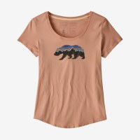 Patagonia W's Fitz Roy Bear Organic Scoop T-Shirt XS Scotch Pink
