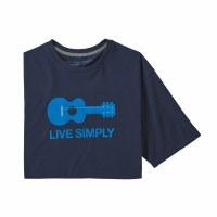 Patagonia M's Live Simply Guitar Responsibili-Tee S Classic Navy