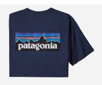 Patagonia Men's P-6 Logo Responsibili-Tee S Classic Navy