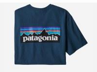 Patagonia Men's P-6 Logo Responsibili-Tee S Crater Blue