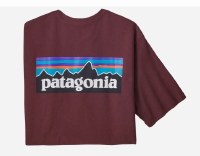 Patagonia Men's P-6 Logo Responsibili-Tee S Dark Ruby