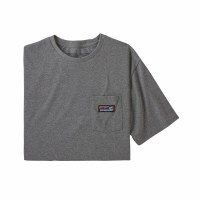 Patagonia M's Boardshort Label Pocket Responsibili-Tee M Gravel Heather