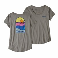 Patagonia W's Sunset Sets Organic Scoop T-Shirt M Feather Grey