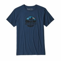 Patagonia Men's Fitz Roy Scope Organic Cotton T-Shirt X-Large Stone Blue