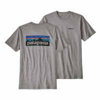Patagonia Men's P-6 Logo Responsibili-Tee Medium Gravel Heather
