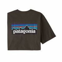 Patagonia Men's P-6 Logo Responsibili-Tee Small Logwood Brown