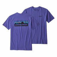 Patagonia Men's P-6 Logo Responsibili-Tee Large Violet Blue
