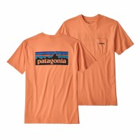 Patagonia Men's P-6 Logo Pocket Responsibili-Tee Medium Peach Sherbert