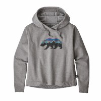 Patagonia Women's Fitz Roy Bear Uprisal Hoody X-Small Gravel Heather