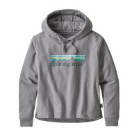 Patagonia Women's Pastel P-6 Logo Uprisal Hoody XS Gravel Heather