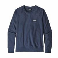 Patagonia Women's Pastel P-6 Label Ahnya Crew Sweatshirt X-Small Stone Blue