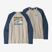 Patagonia Men's Line Logo Ridge Lightweight Crew Sweatshirt 2XL Pumice