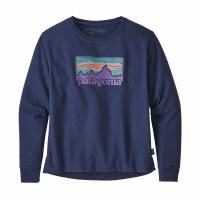 Patagonia Women's Solar Rays '73 Uprisal Crew Sweatshirt X-Small Classic Navy