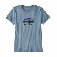 Patagonia W's Fitz Roy Bison Organic Crew T-Shirt XS Berlin Blue