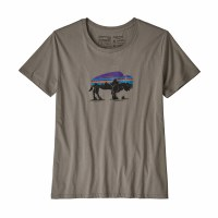 Patagonia W's Fitz Roy Bison Organic Crew T-Shirt S Feather Grey