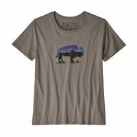 Patagonia W's Fitz Roy Bison Organic Crew T-Shirt XS Feather Grey