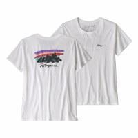 Patagonia Women's Free Hand Fitz Roy Organic Cotton T-Shirt X-Small White