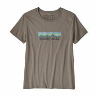 Patagonia Women's Patel P-6 Logo Organic Cotton Crew T-Shirt S Feather Grey