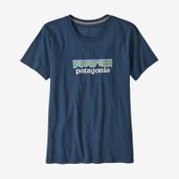 Patagonia Women's Patel P-6 Logo Organic Cotton Crew T-Shirt XS Stone Blue