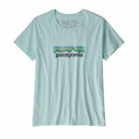 Patagonia Women's Patel P-6 Logo Organic Cotton Crew T-Shirt Small Atoll Blue