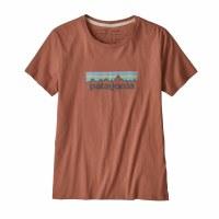 Patagonia Women's Patel P-6 Logo Organic Cotton Crew T-Shirt Small Century Pink