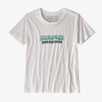Patagonia Women's Patel P-6 Logo Organic Cotton Crew T-Shirt Small White