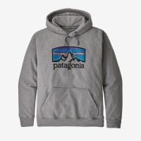 Patagonia M's Fitz Roy Horizons Uprisal Hoody XL Gravel Heather
