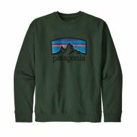 Patagonia Men's Fitz Roy Horizons Uprisal Crew Sweatshirt Large Alder Green