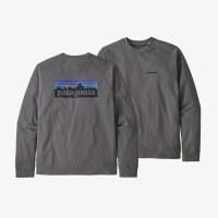Patagonia Men's P-6 Logo Organic Cotton Crew Sweatshirt 2XL Noble Grey