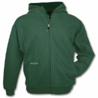 Arborwear Double Thick Full Zip Sweatshirt Large Forest Green