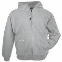 Arborwear Double Thick Full Zip Sweatshirt Medium Athletic Grey
